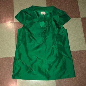 Kate spade emerald green silk blouse